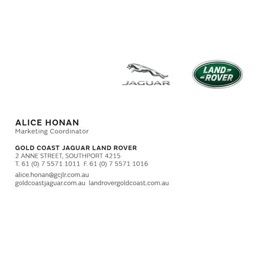 Jaguar Land Rover Business Card Anne St-No Mobile