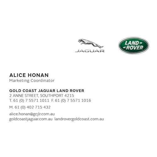 Jaguar Land Rover Business Card Anne St-Mobile