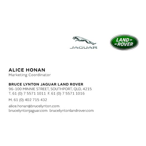 Jaguar Land Rover Business Card